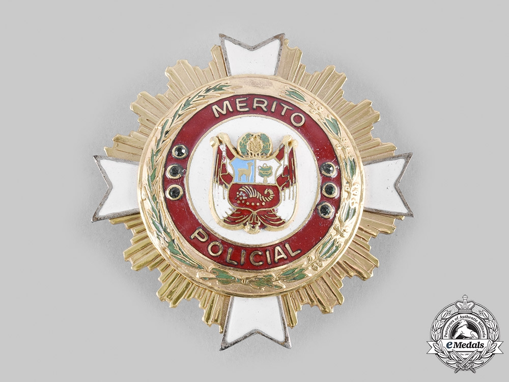Peru, Republic. An Order of Merit of the National Police of Peru, Grand Cross Star, c.1995