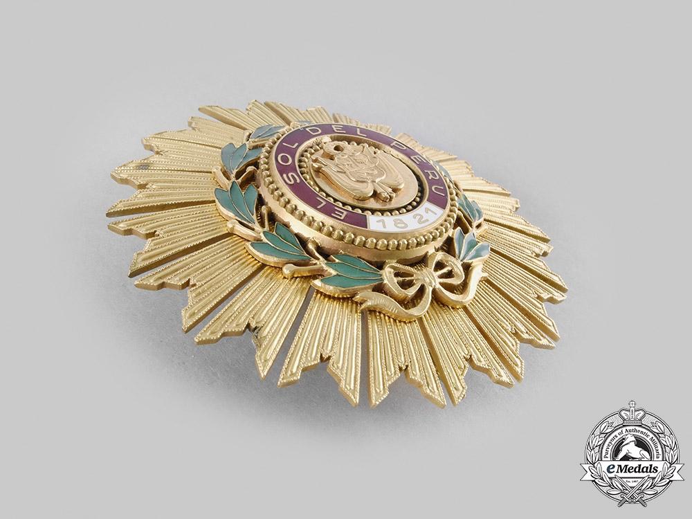 Peru, Republic. An Order of the Sun of Peru, Grand Cross Star, c.1960