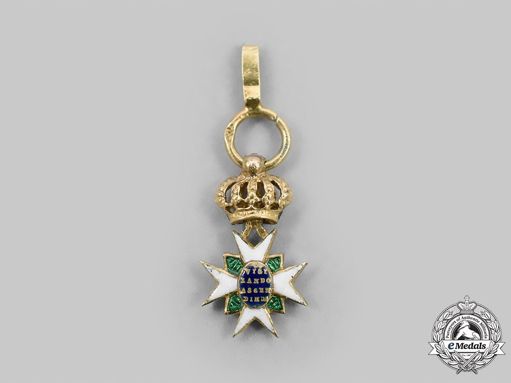 Saxe-Weimar, Duchy. An Order of the White Falcon, Miniature Version