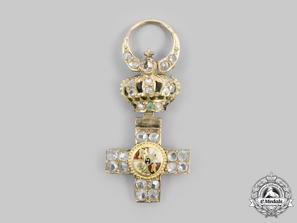 Spain, Kingdom. An Order of Military Merit, Grand Cross Miniature in Gold and Diamonds, c.1900