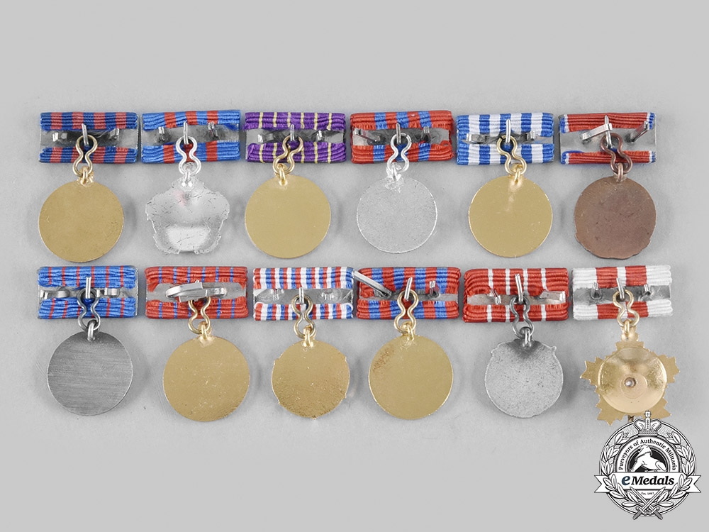 Yugoslavia, Socialist Federal Republic. Lot of Twelve Miniature Orders and Medals