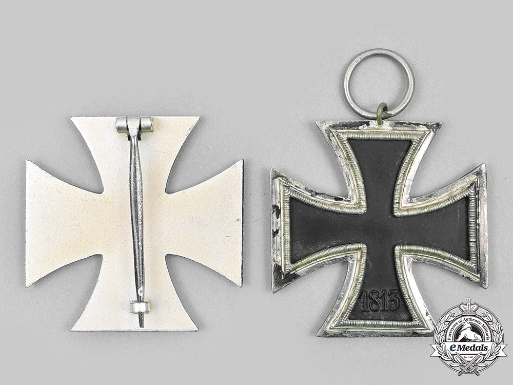 Germany, Federal Republic. A Pair of 1939 Iron Crosses, 1957 Versions