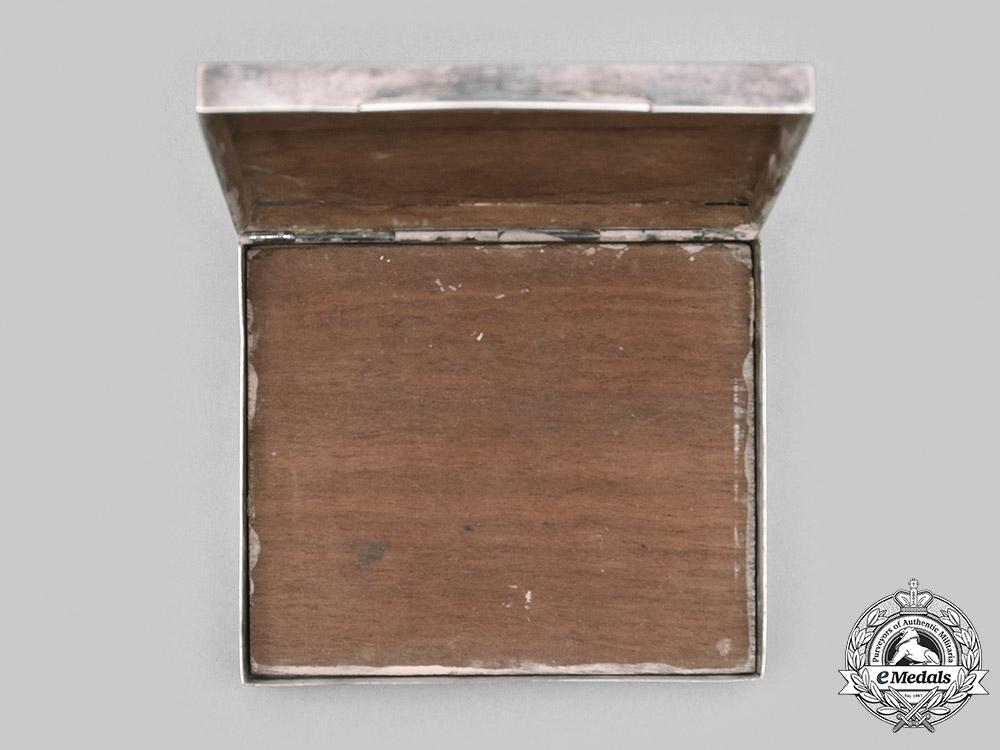 Germany, NSDAP. A Silver Cigarette Case, by Gottlieb Kurz