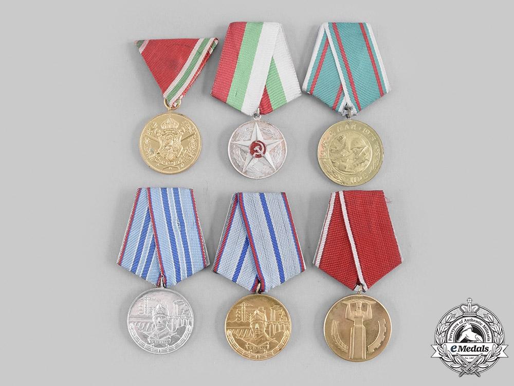 Bulgaria, Kingdom, People's Republic. A Lot of Six Medals