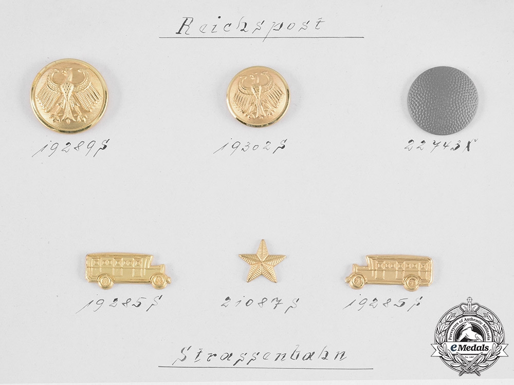 Germany, Reich Postal & Street Cars. An Assmann & Söhne Manufacturer's Quality Test Board