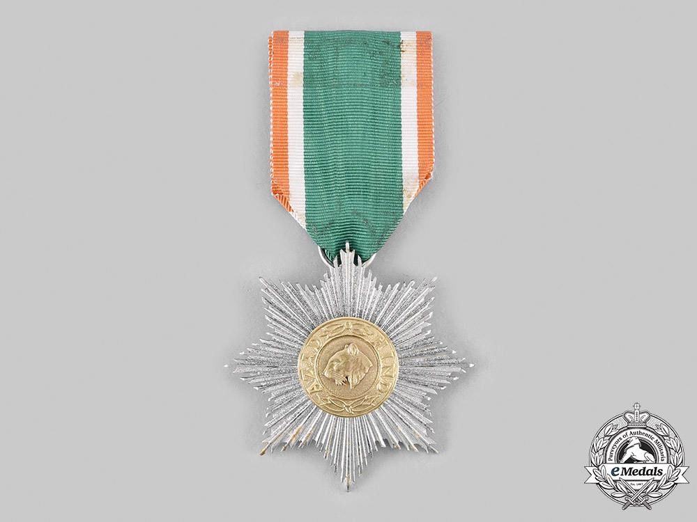 India. An Order of Azad Hind, II Class Star with Case, by Rudolf Souval
