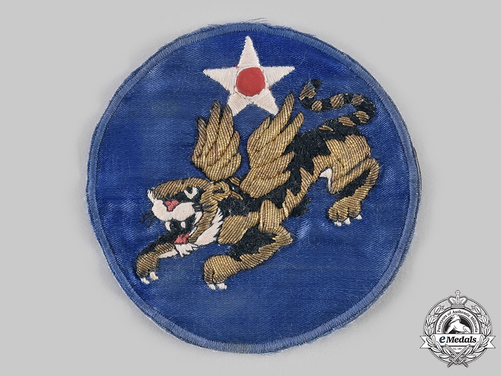 "United States. A Theater-Made Fourteenth Air Force ""Flying Tigers"" USAAF Jacket Patch, c.1943"