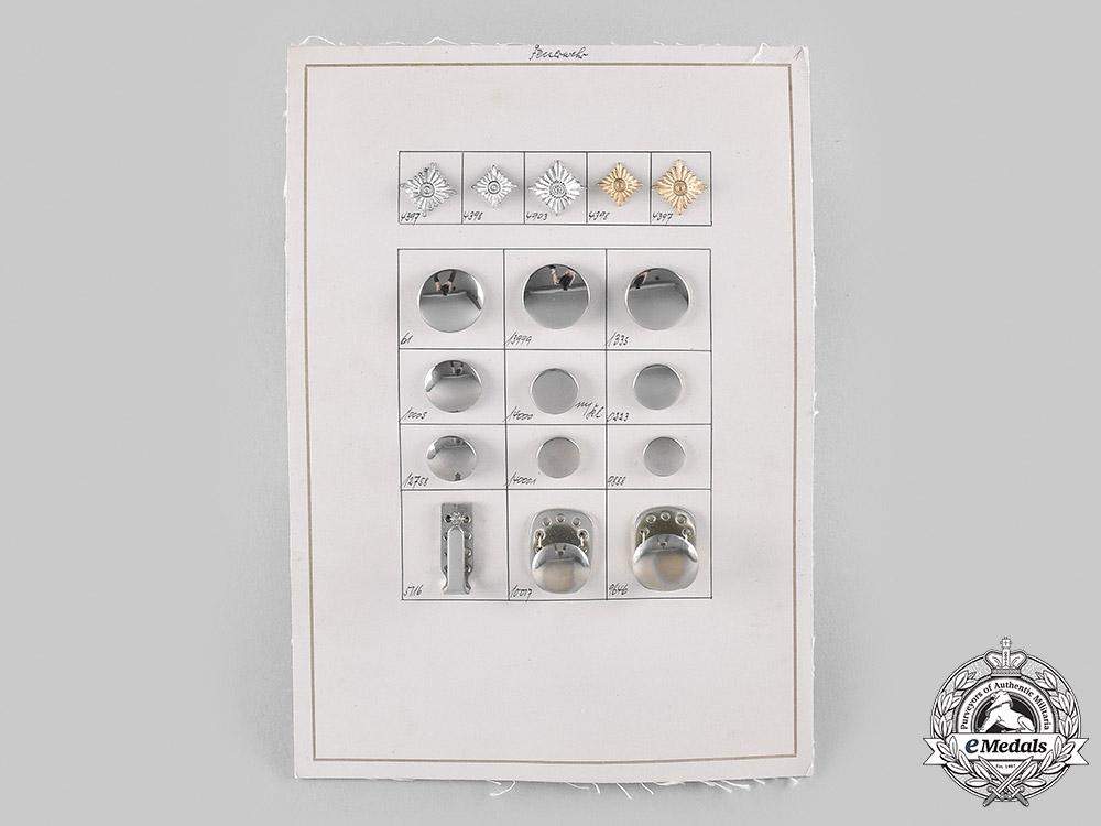 Germany, Fire Brigade. An Assmann & Söhne Manufacturer's Quality Test Board