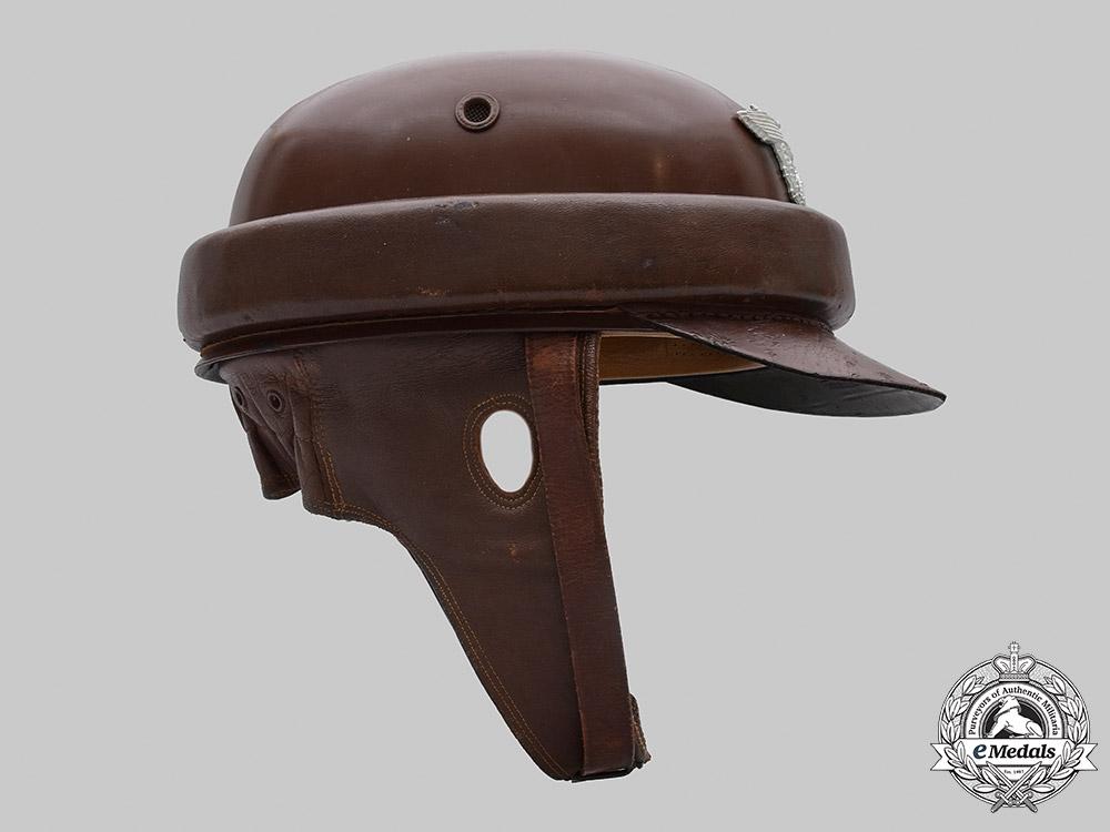 Germany, Schutzpolizei. A Motorized Gendarmerie Motorcycle Crash Helmet, by Robert Lubstein