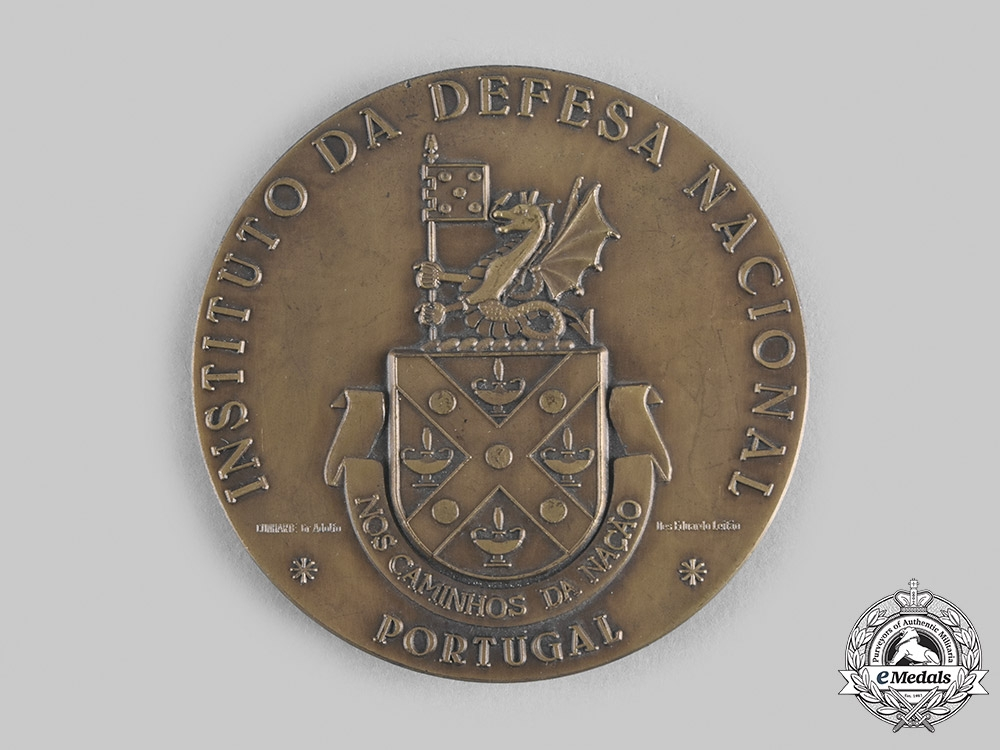 Portugal, Republic. A National Defence Institute of Portugal Table Medal
