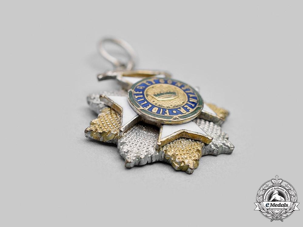 Saxe-Ernestine, Duchy. A Saxe-Ernestine House Order, Grand Cross Star with Swords, Miniature, c.1918