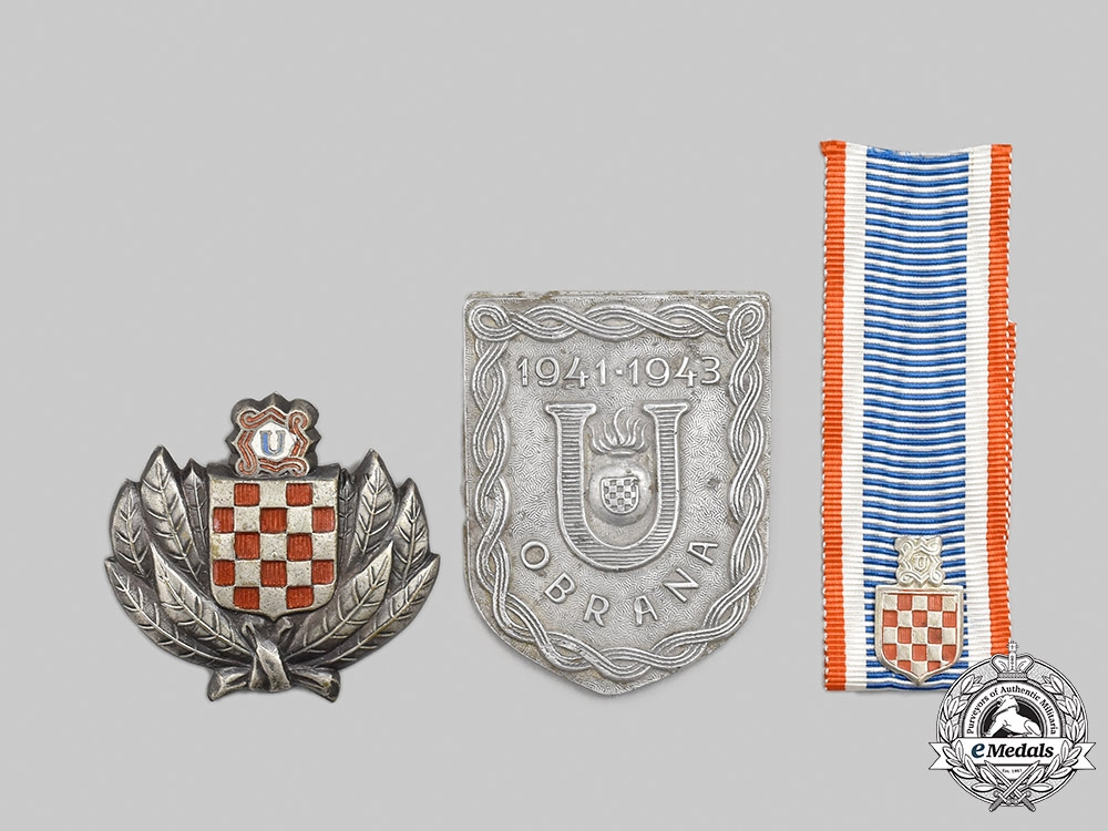 Croatia, Independent State. A Lot of Three Badges