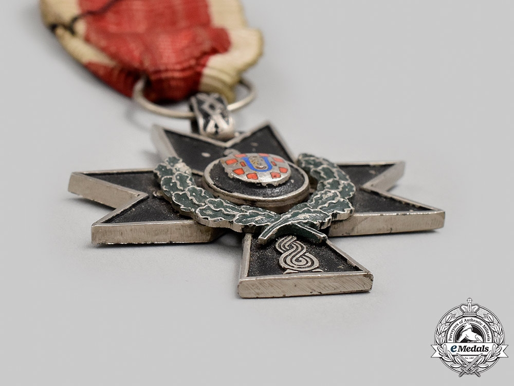 Croatia, Independent State. An Order of the Iron Trefoil, III Class with Oak Leaves, c.1941