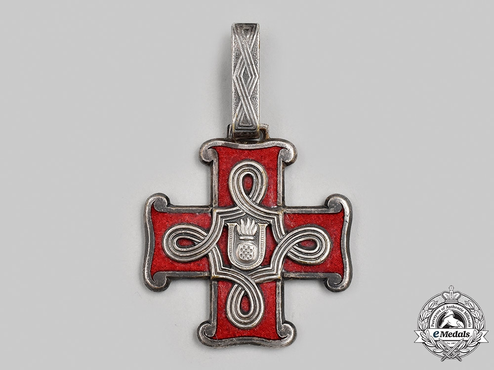Croatia, Independent State. An Order of Merit, I Class, Christian Version, c.1942