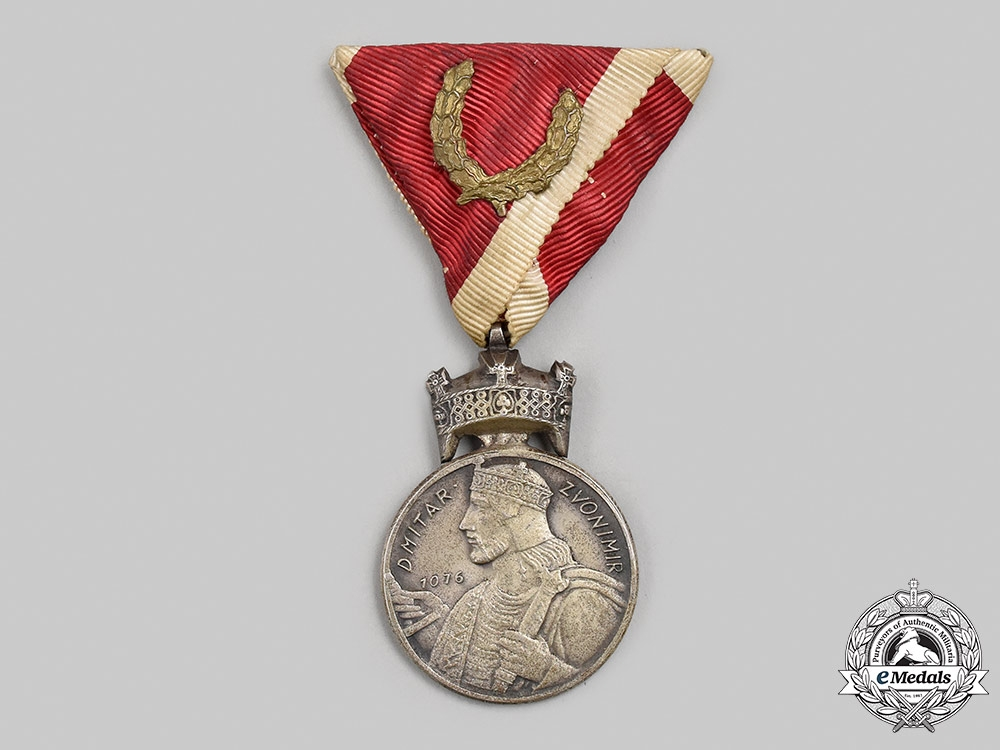 Croatia, Independent State. An Order of the Crown of King Zvonimir, Silver Grade Medal, by Braća Knaus, c.1941