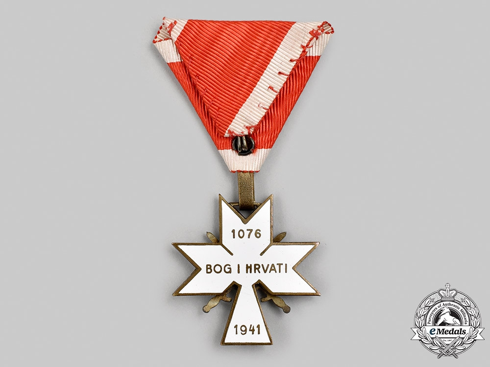 Croatia, Independent State. An Order of the Crown of King Zvonimir, III Class with Swords, c.1941