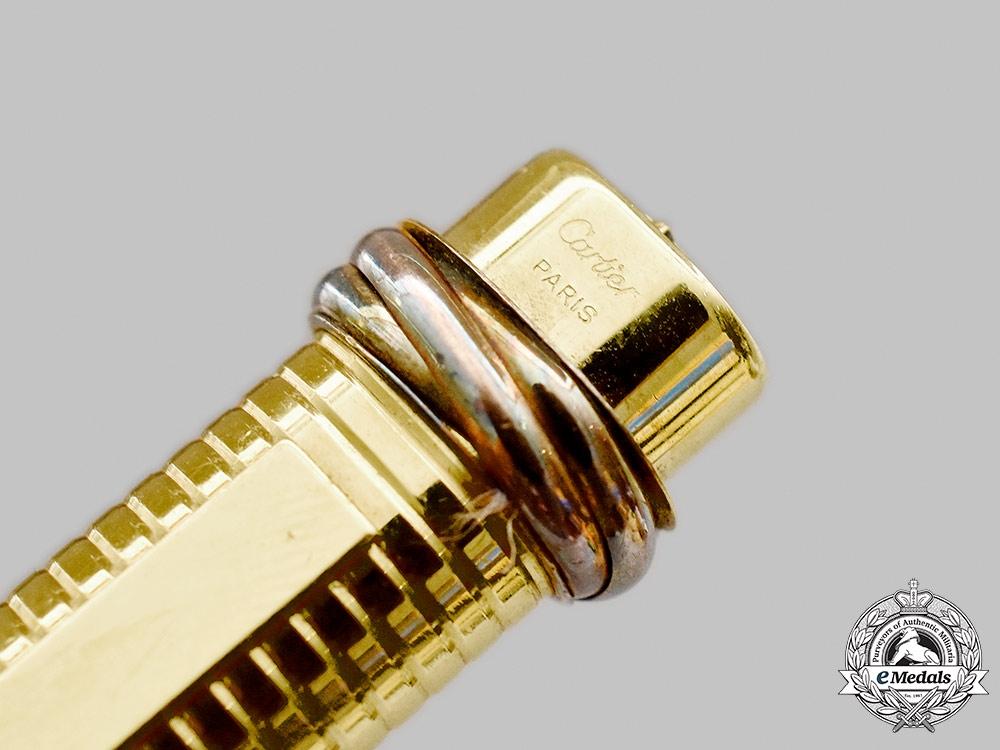 Estate. A Vintage Les Must De Cartier Vendome Gold-Plated Pen, c.1980