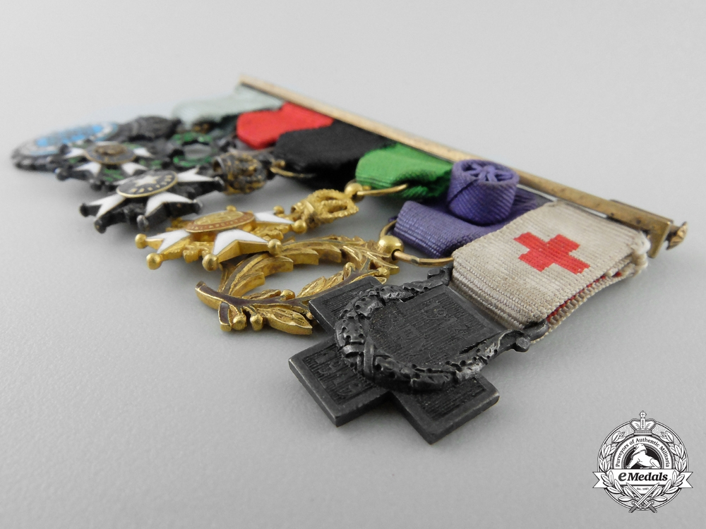A Fine First War Period Swedish Miniature Medal Bar