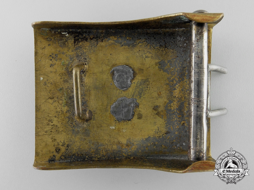 An Upper Silesia (Ober-Schlesien) Fire Defence Service Enlisted Man's Belt Buckle