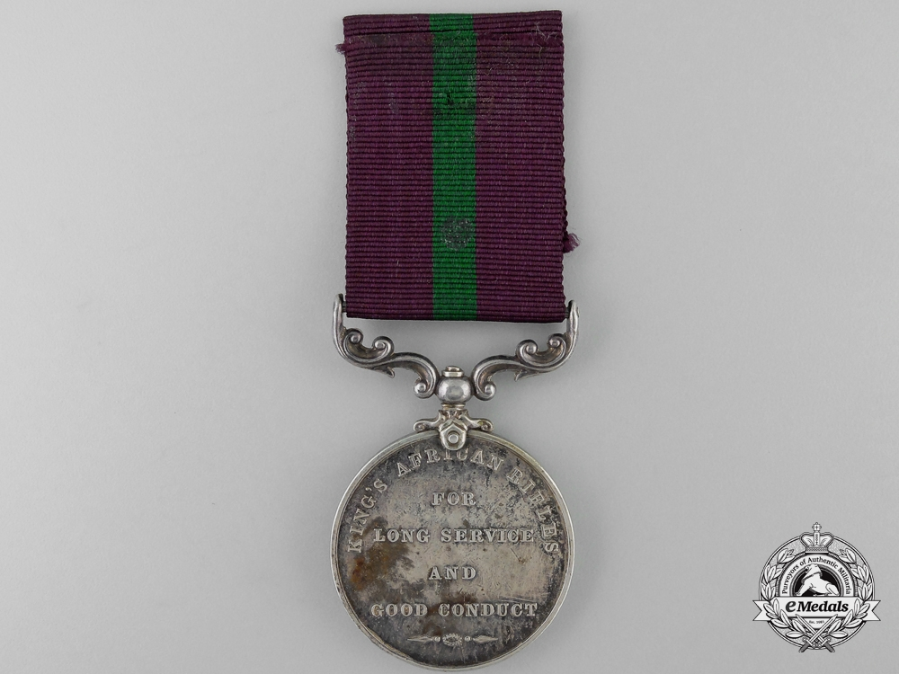 A King's African Rifles Long Service and Good Conduct Medal