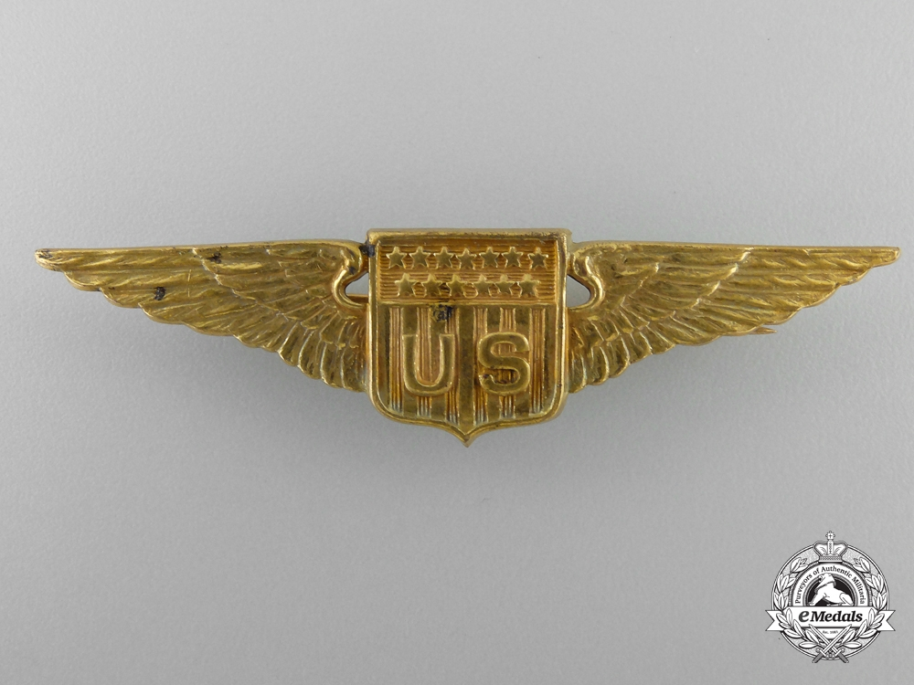 United States. An Aviator's Wings with ID Tag to A.B. Babbitt, c.1918