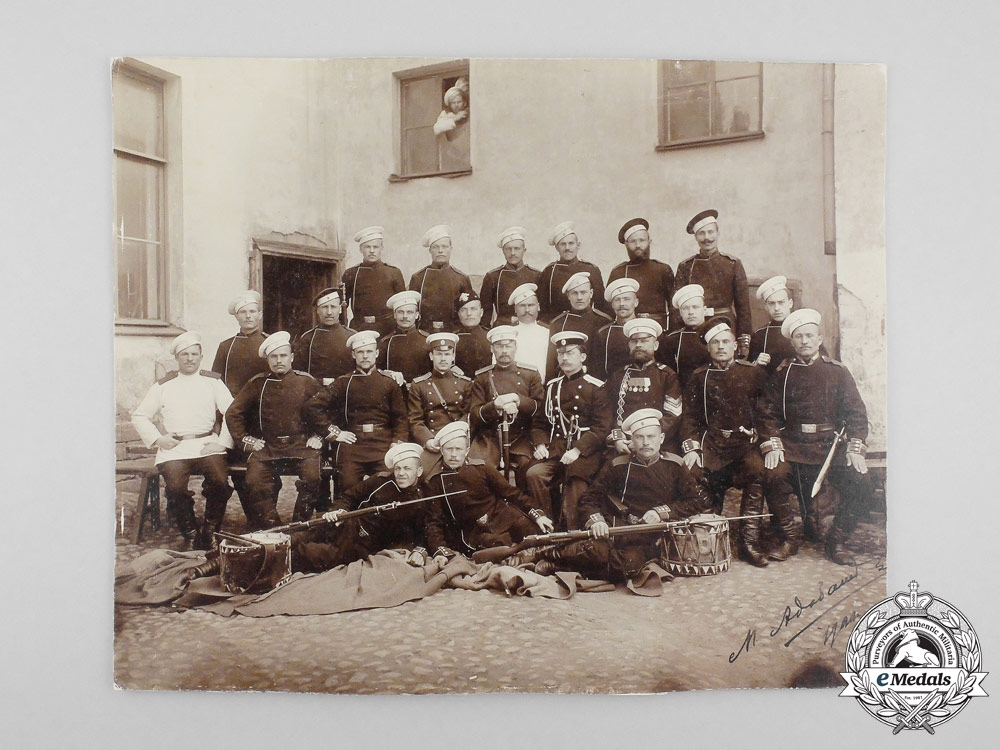 An Imperial Russian Soldiers' Group Photograph c  1900