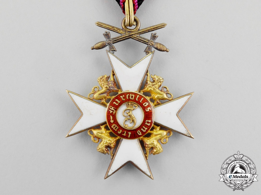 Wurttemberg. A Württemberg Order of the Crown Knight's Cross with Lions and Swords
