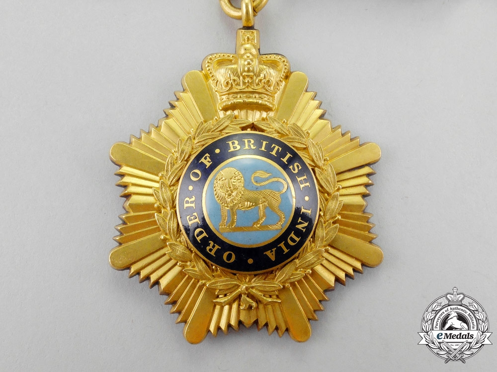 Great Britain. An Order of British India, 1st Class in Gold