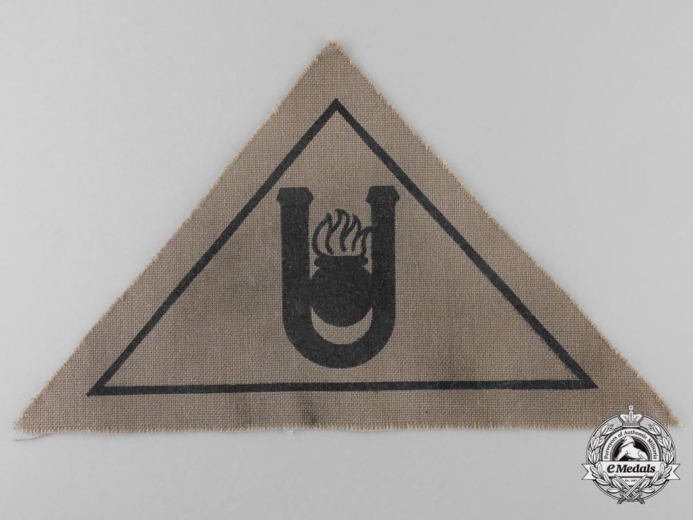 A Second War Croatian Ustasha Arm Badge