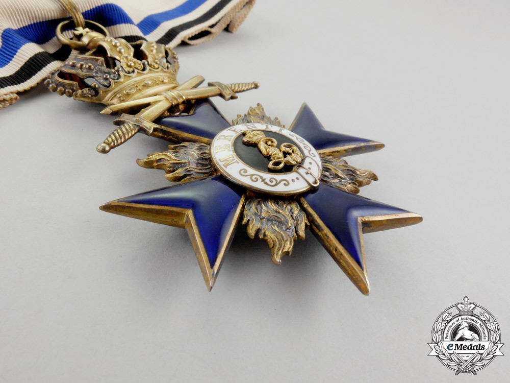 Bavaria. A Bavarian Order of Military Merit Commander's Cross Second Class with Crown and Swords