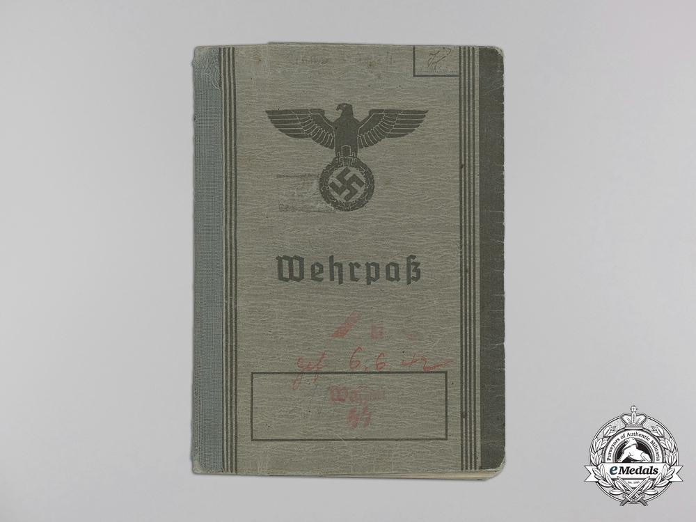 The Wehrpass of SS-Rottenführer August Krämer; Totenkopf Division & KIA