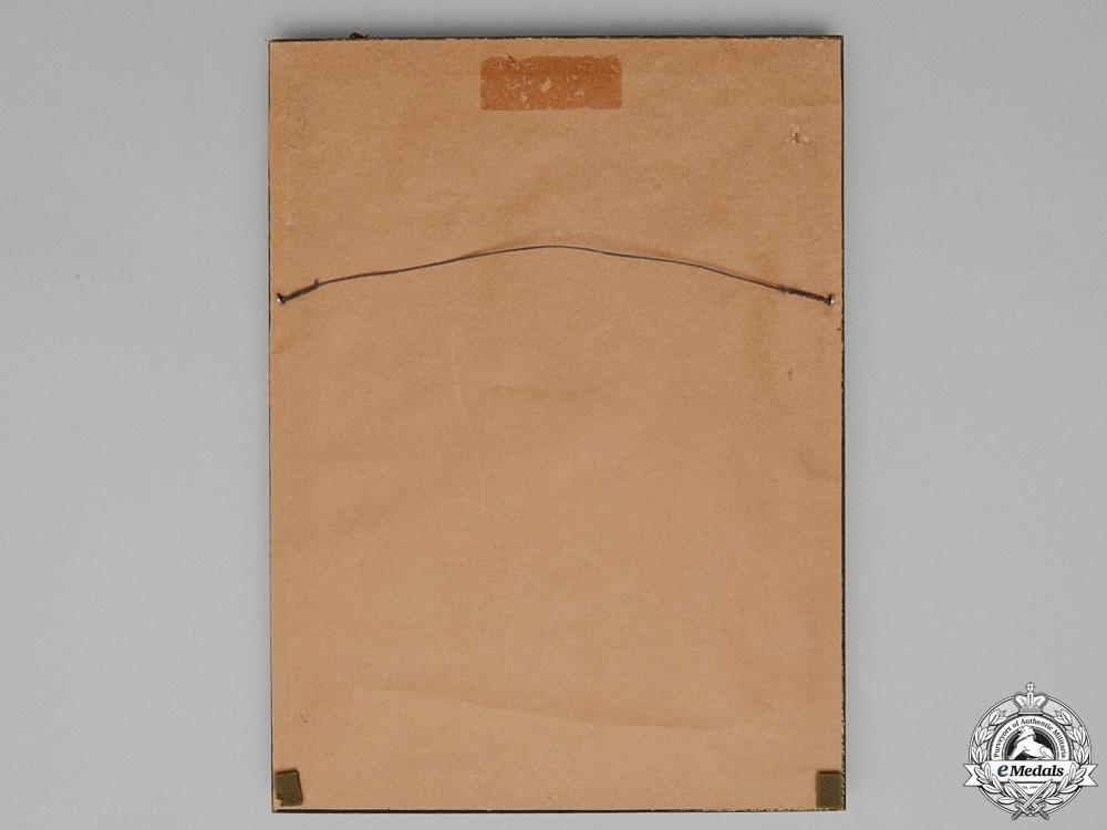 "A Yugoslavian St. Sava Award Document to NSDAP Reichsschatzmeister Franz Xaver Schwarz; Party Member Number ""6"""