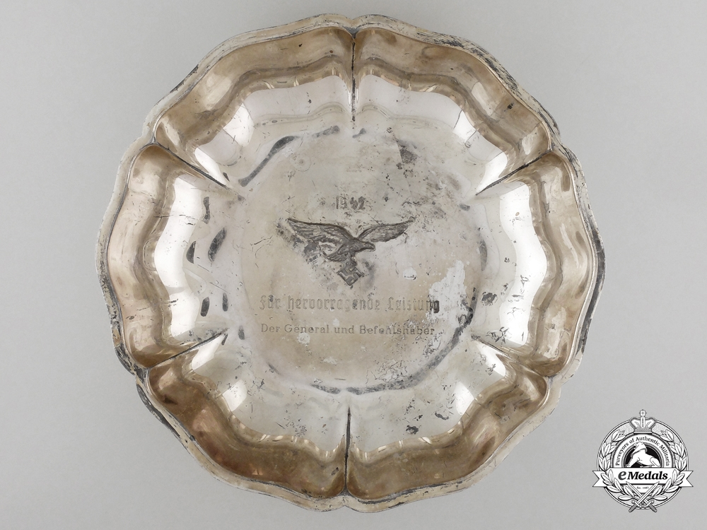 A 1942 Luftwaffe Silver Bowl for Outstanding Performance