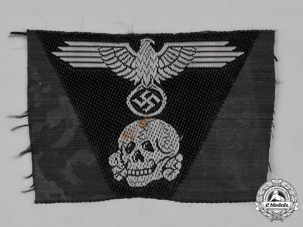 Ww2 German Police M43 Hat Badge: Germany, SS. A Waffen-SS Panzer M43 Cap Insignia