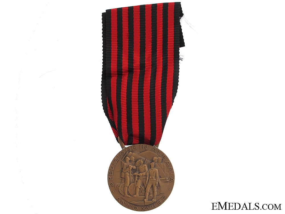 Medal for Expedition to Albania - Type C