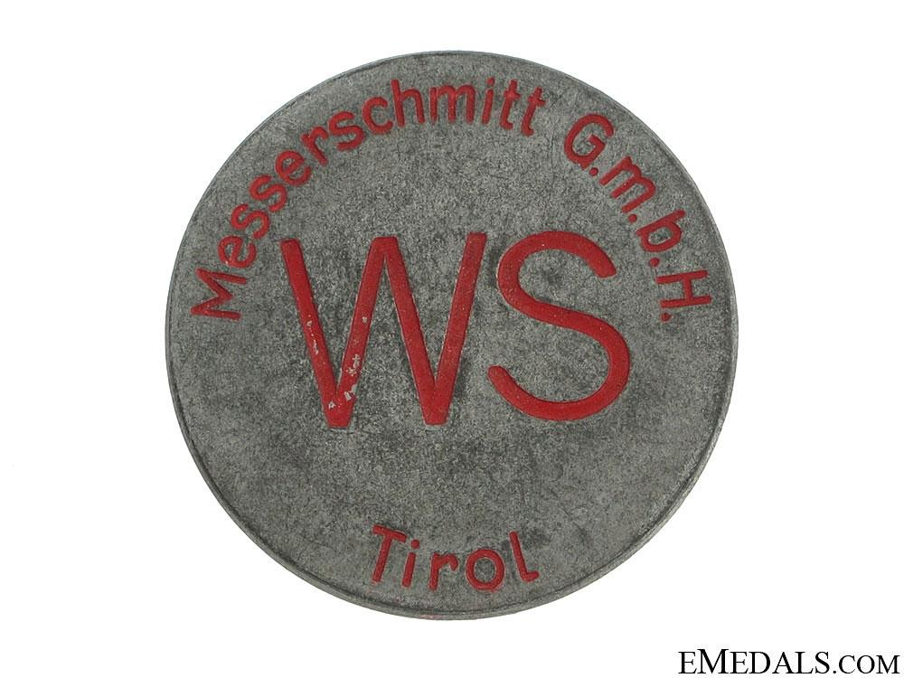 Messerschmitt (Tirol) Factory ID Badge