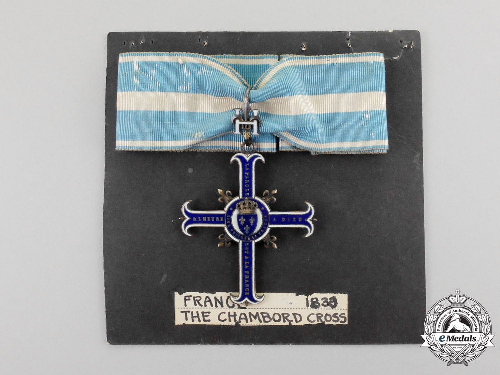 France. A Cross of the Partisans of the Count of Chambord in Garnet of Perpignan