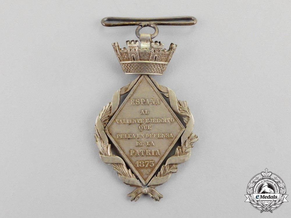Spain. A Campaign Medal for Cuba, Type II, c.1873