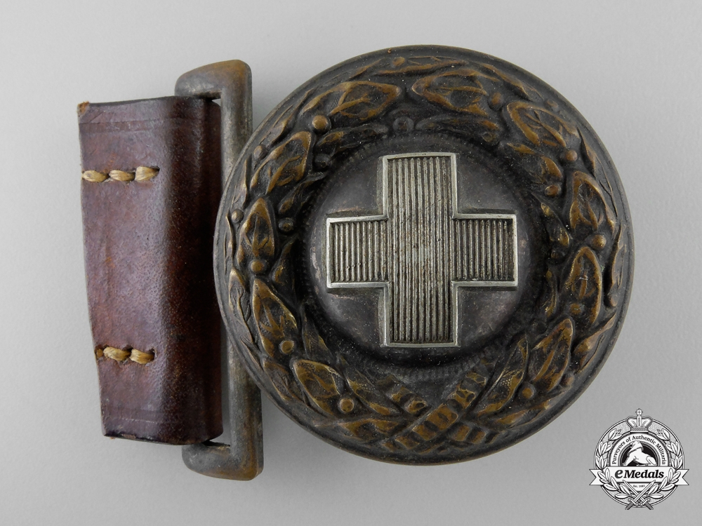 A German Red Cross (Deutsches Rotes Kreuz) Officer's Belt Buckle; Published Example