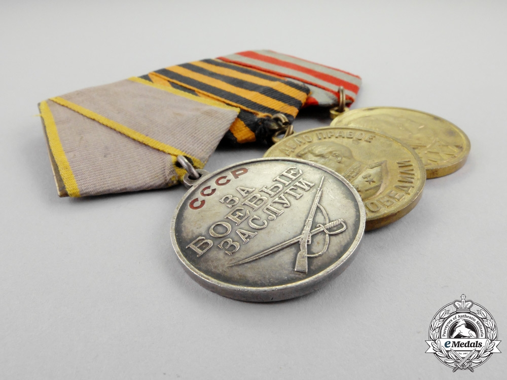Soviet Russia. A Second War Group of Combat Awards