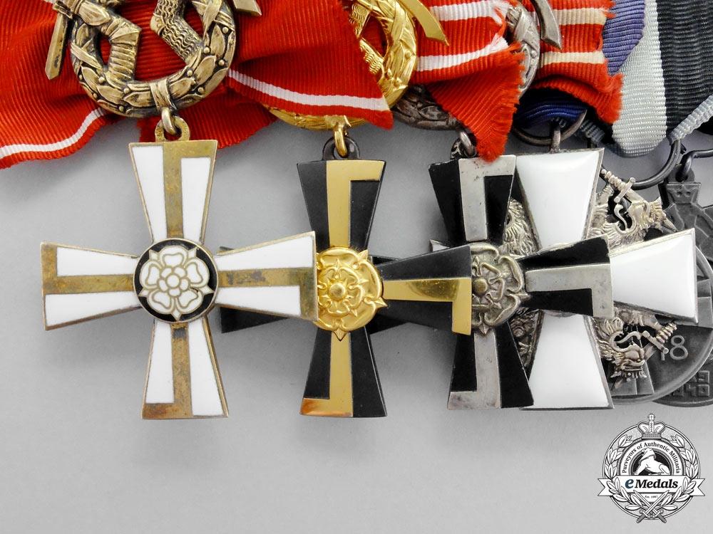 Finland. An Extensive Second War Cross of Liberty Medal Bar
