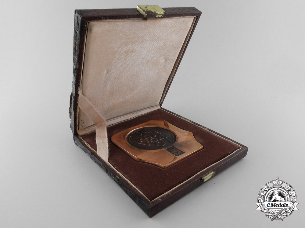An 1984 Sarajevo Winter Olympics Participant's Medal with Case