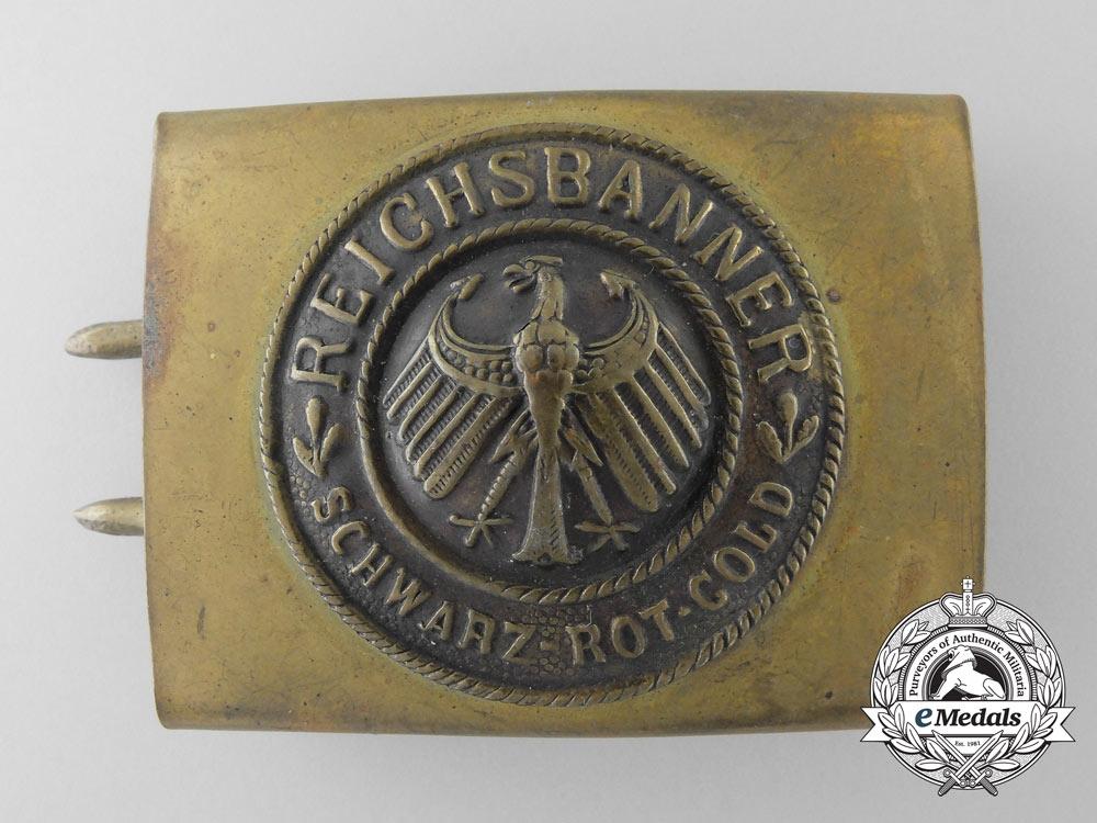 A Weimar Republic National Banner (Reichsbanner) Belt Buckle
