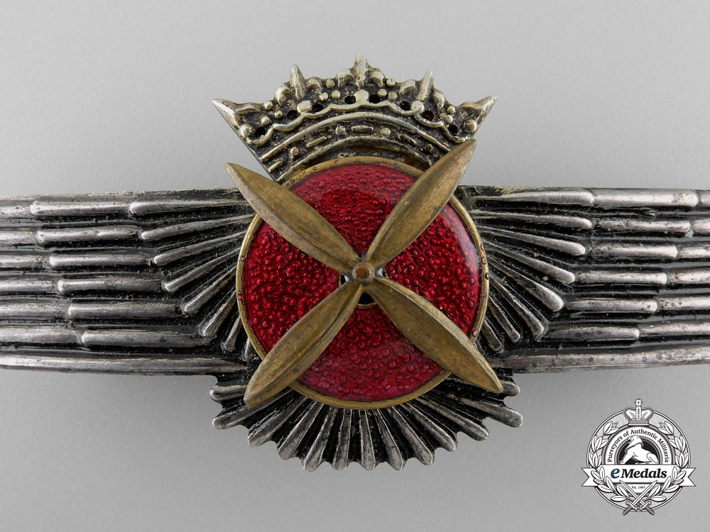 """A Spanish Pilots Wing from the Estate of Walter """"Gulle"""" Oesau"""