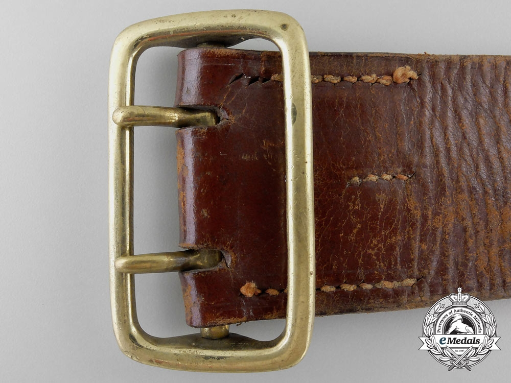 A Double Open Claw Army Buckle with Belt