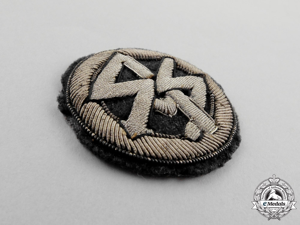 Germany, SS. A Traditional Bullion DLV Patch for Members of the SA/SS Flying Groups