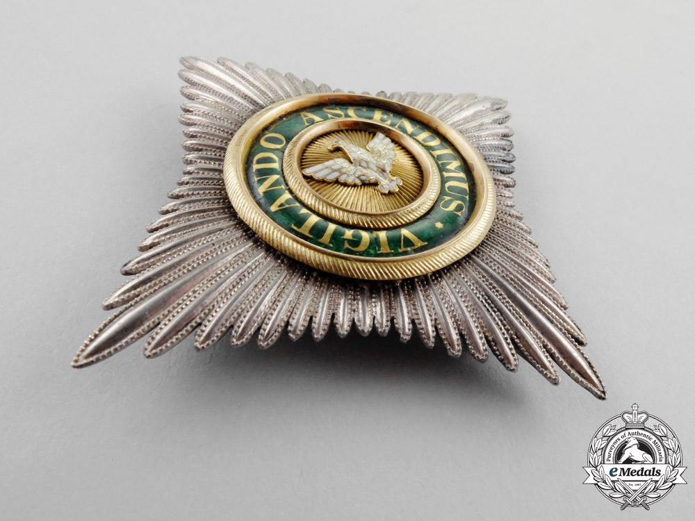 Sax-Weimar An Order of the White Falcon Commander's Breast Star by Wirsing c.1850
