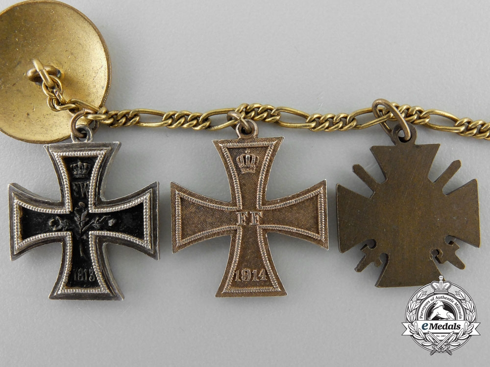 A First War German Imperial Miniature Medal Chain by Godet