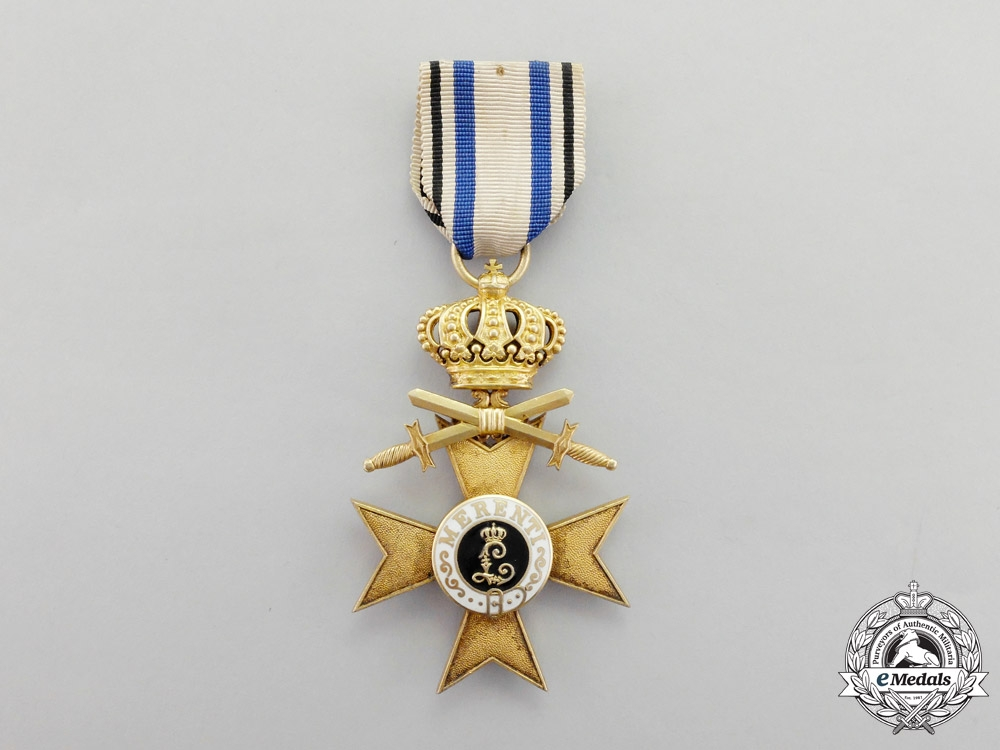 Bavaria. A 1913-1918 Issue Order of Military Merit Cross First Class with Swords and Crown