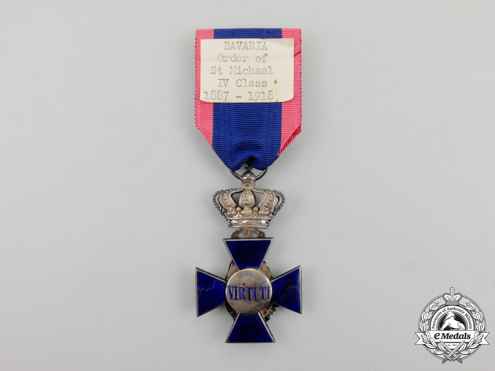 Bavaria. A Royal Merit Order of St. Michael Cross Fourth Class by Eduard Quell-Horst